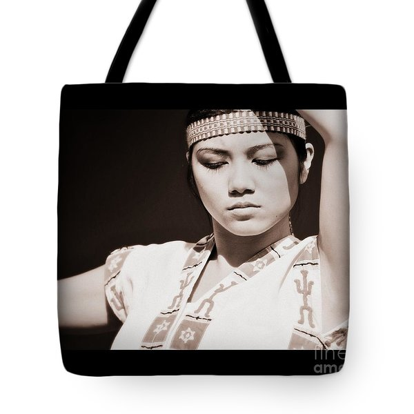 Philippino Dancer Tote Bag by Chris Dutton