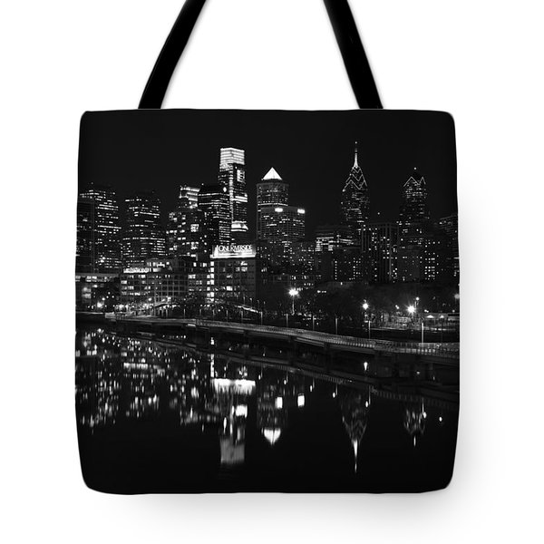 Philly And The Schuylkill Bw Tote Bag