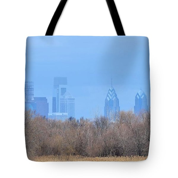 Philly From Afar Tote Bag by Kathy Eickenberg