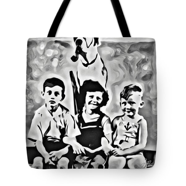 Philly Kids With Petey The Dog Tote Bag
