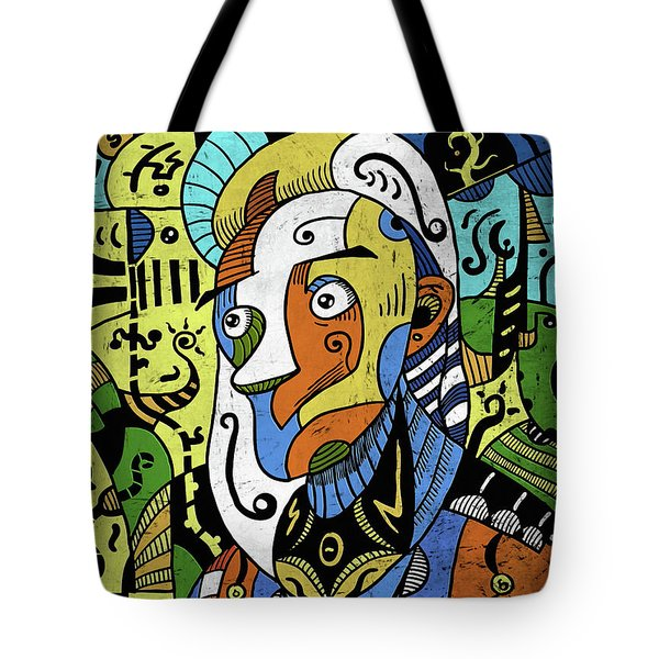 Tote Bag featuring the digital art Philosopher by Sotuland Art