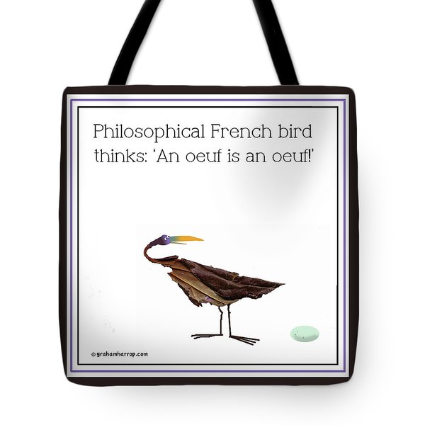 Tote Bag featuring the digital art Philosophical Bird by Graham Harrop