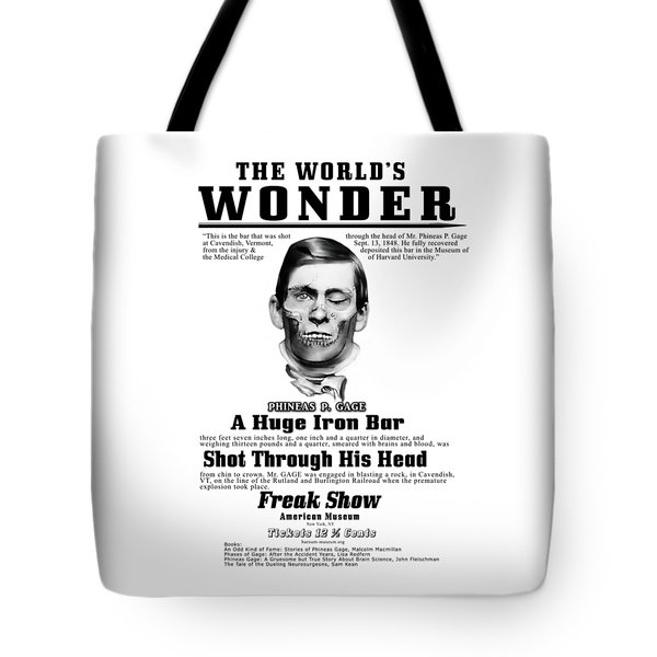 Phineas Gage World's Wonder Tote Bag