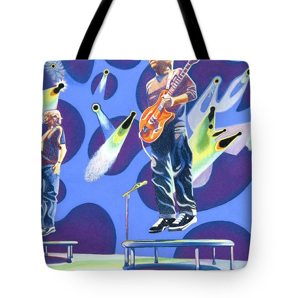 Phish Tramps Tote Bag by Joshua Morton