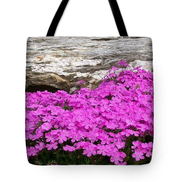 Tote Bag featuring the digital art Phlox by Barbara S Nickerson