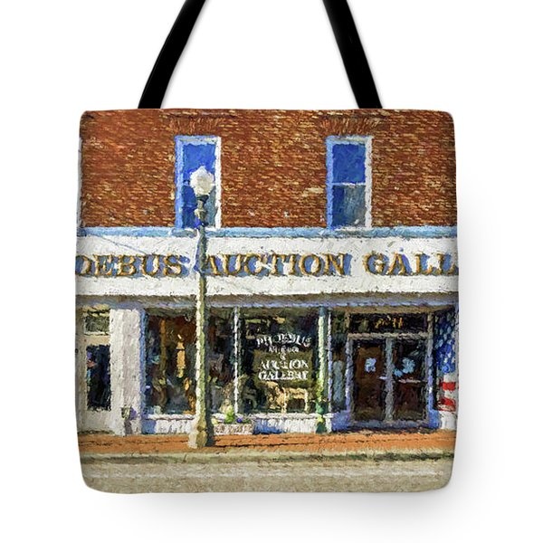 Tote Bag featuring the photograph Phoebus Auction Gallery by Jerry Gammon