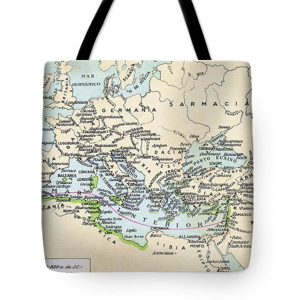 Phoenician Colonies And Area Of Tote Bag