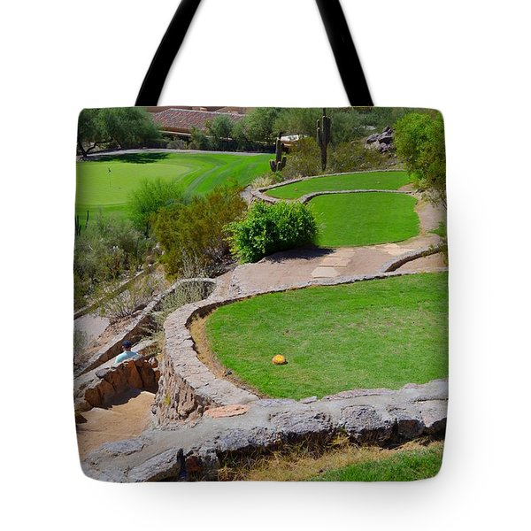 Phoenician Golf Club Series - 69 - Signature Hole - Desert 8 Tote Bag