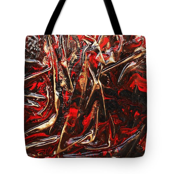 Tote Bag featuring the mixed media Phoenix by Angela Stout