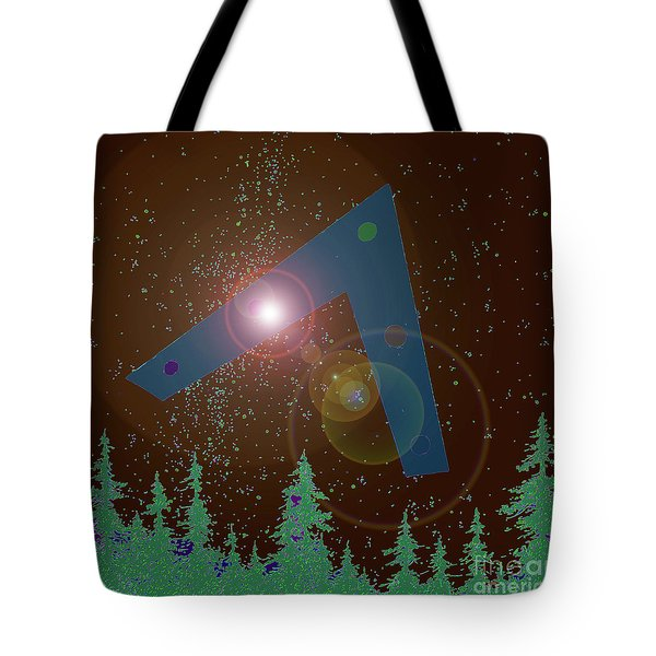 Tote Bag featuring the painting Phoenix Lights Ufo by James Williamson