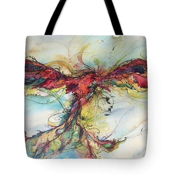 Phoenix Rainbow Tote Bag