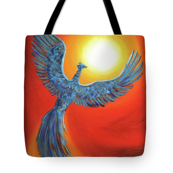 Phoenix Rising Tote Bag by Laura Iverson