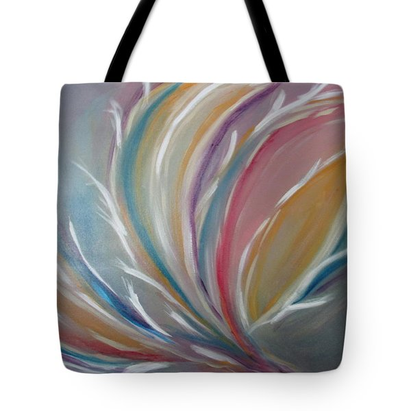 Tote Bag featuring the painting Phoenix Rising by Sharyn Winters