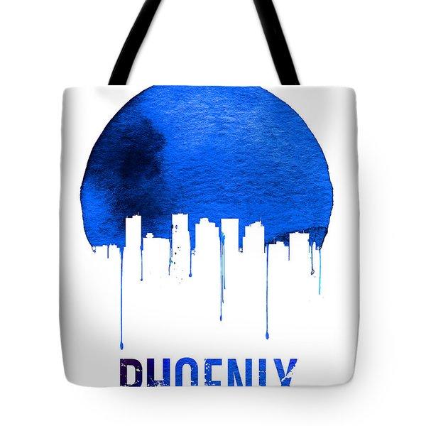 Phoenix Skyline Blue Tote Bag