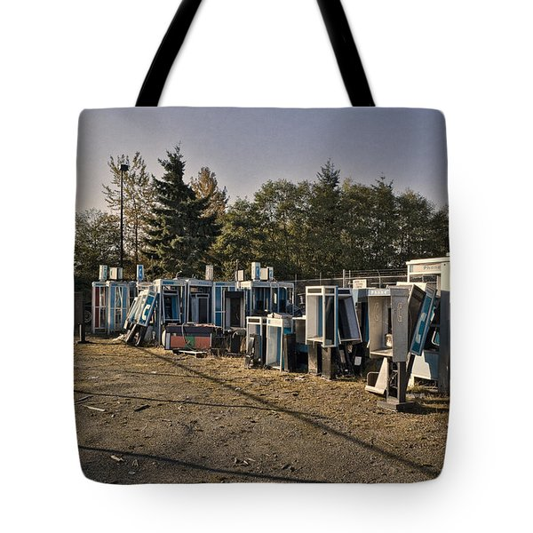 Phone Booth Graveyard Tote Bag by Kelley King