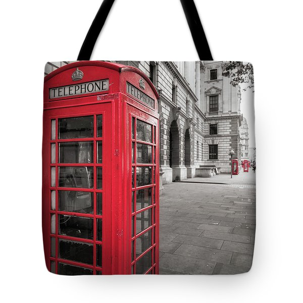 Phone Booths In London Tote Bag
