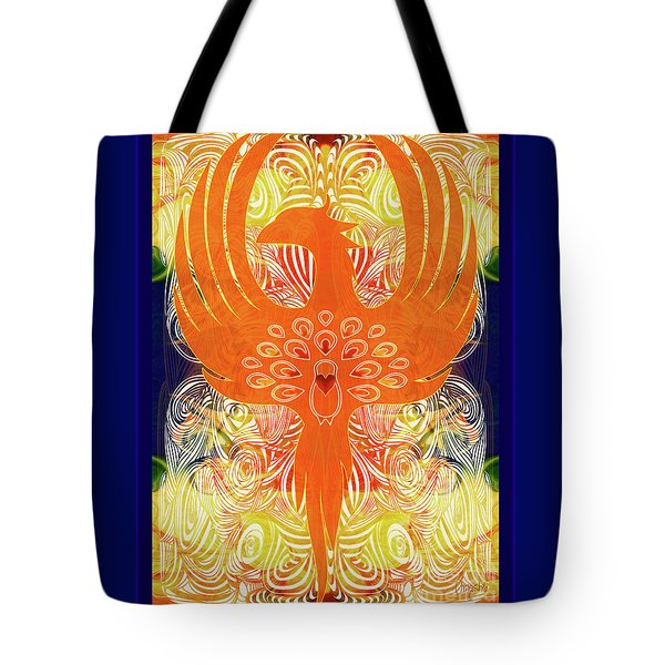 Phonix Rising Abstract Healing Art By Omashte Tote Bag