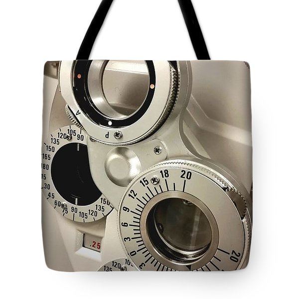 Tote Bag featuring the photograph Phoropter by Keith Hawley