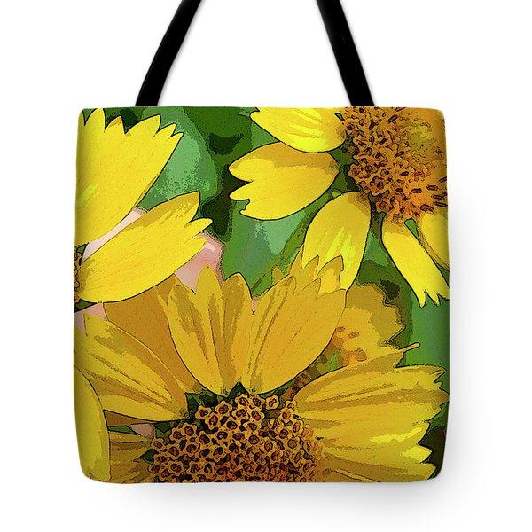 Yellow Wildflowers Photograph II Tote Bag