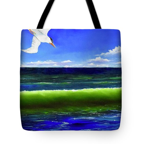 Tote Bag featuring the painting Photobomb by Mary Scott