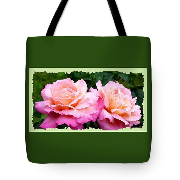 Tote Bag featuring the photograph Photogenic Peace Roses by Will Borden