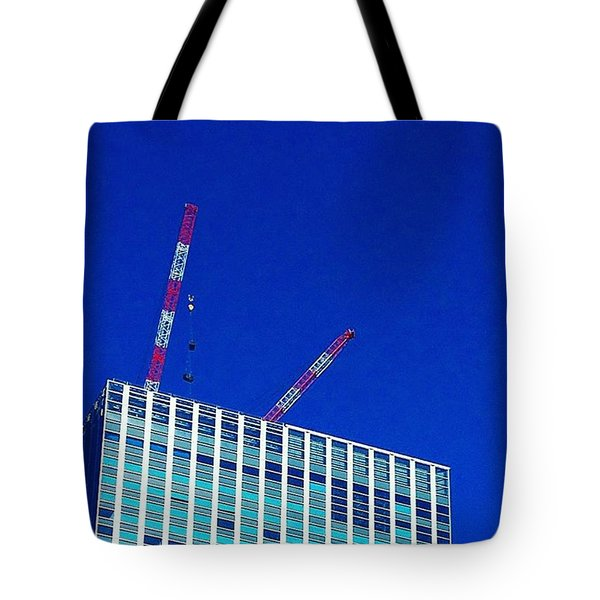 Photogragh Of Building And The Sky Tote Bag