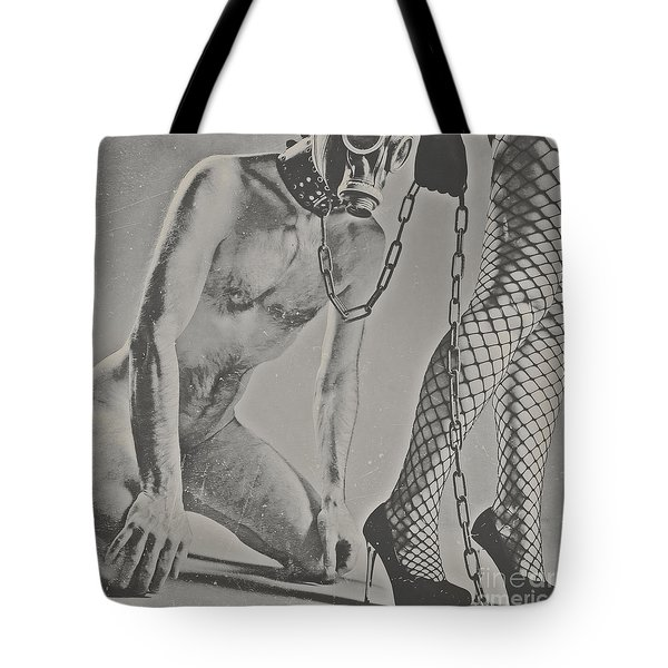 Photograph Bdsm Style In Black And White #0547d Tote Bag