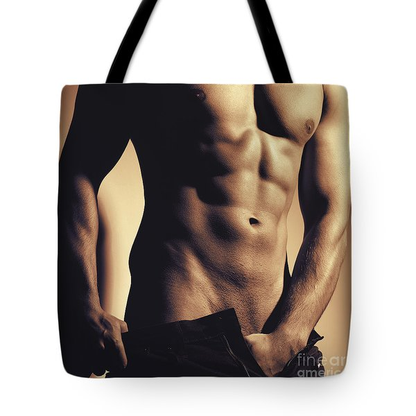 Photograph Of A Sexy Man #9981g Tote Bag