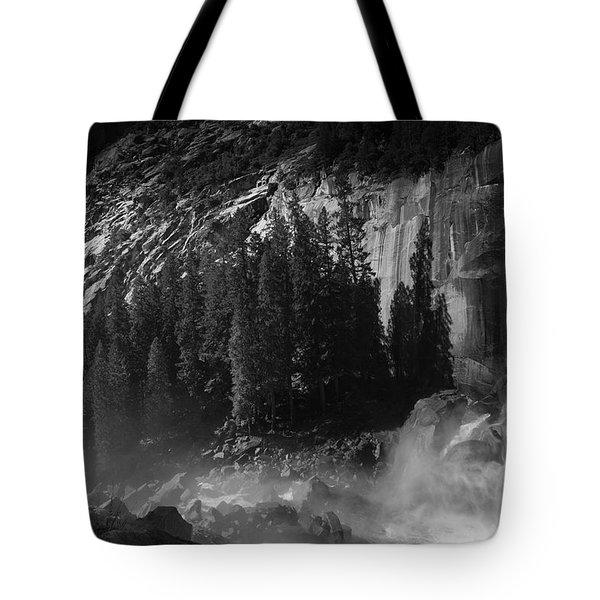 Photographer At Vernal Falls Tote Bag