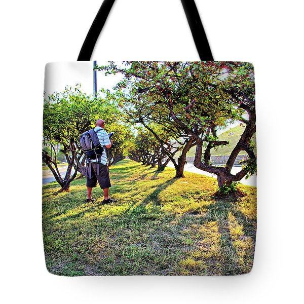Tote Bag featuring the photograph Photographer by Brian Wallace