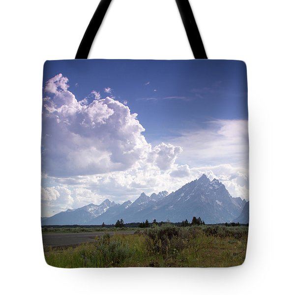 Tote Bag featuring the photograph Photographing The Tetons by Dawn Romine