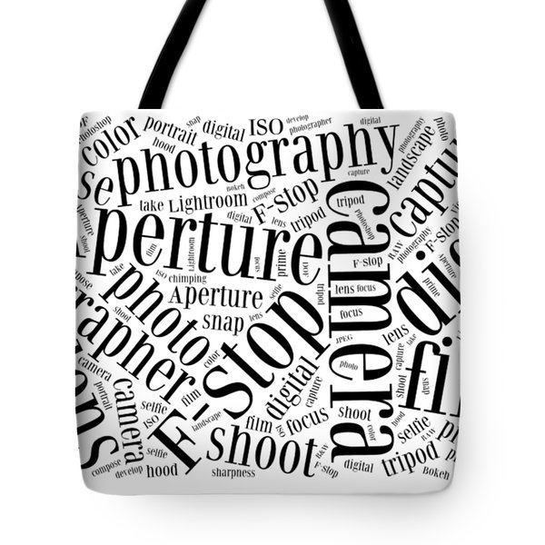 Photography Word Cloud Tote Bag