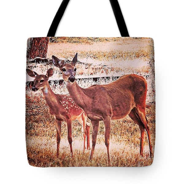 Photoshopping My Two Favorite #deer Tote Bag