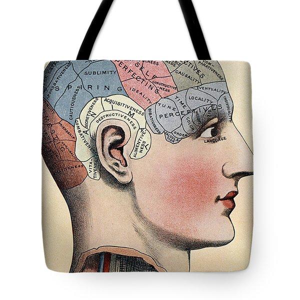 Phrenology Chart Tote Bag
