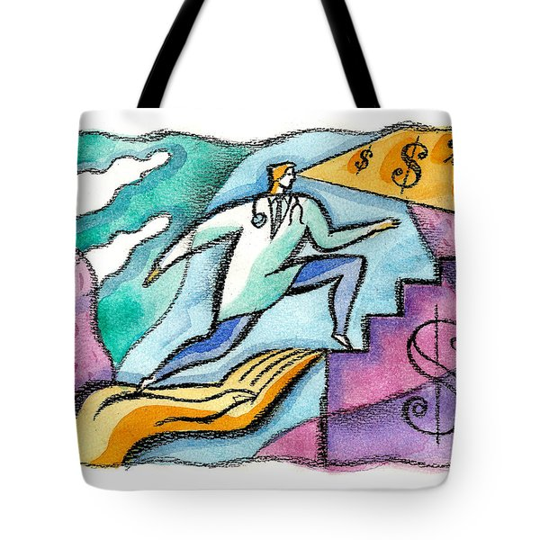 Tote Bag featuring the painting Physician And Money by Leon Zernitsky