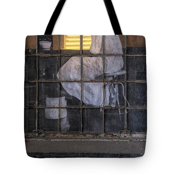 Tote Bag featuring the photograph Physician In The Window by Tom Singleton