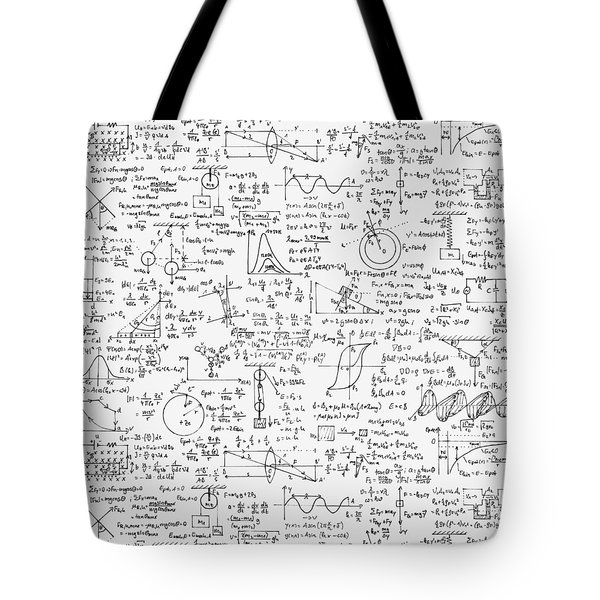 Physics Forms Tote Bag by Gina Dsgn