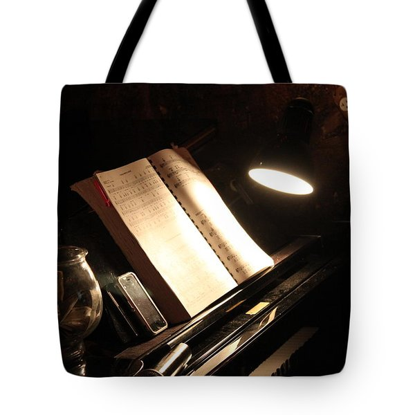 Piano Bar Tote Bag by Lauri Novak