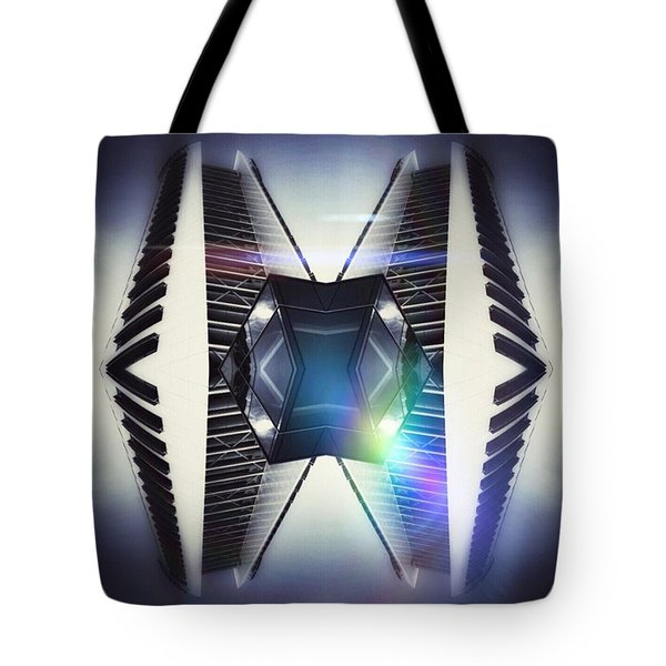 Piano Building Tote Bag