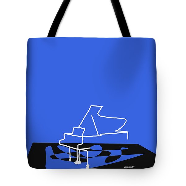 Piano In Blue Tote Bag