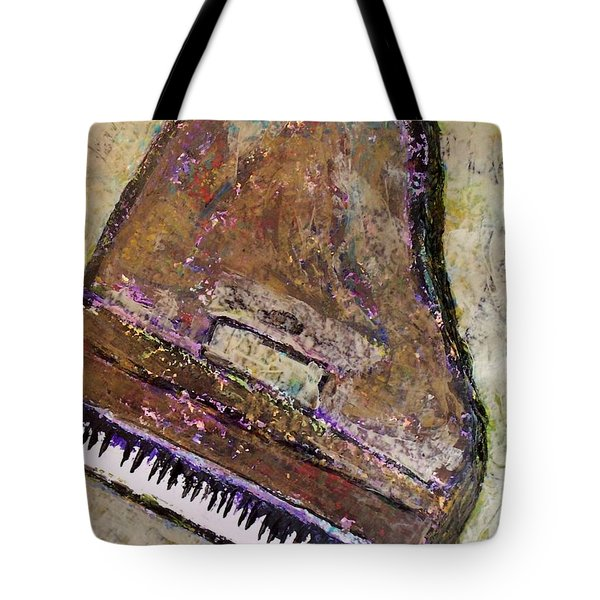 Piano In Bronze Tote Bag