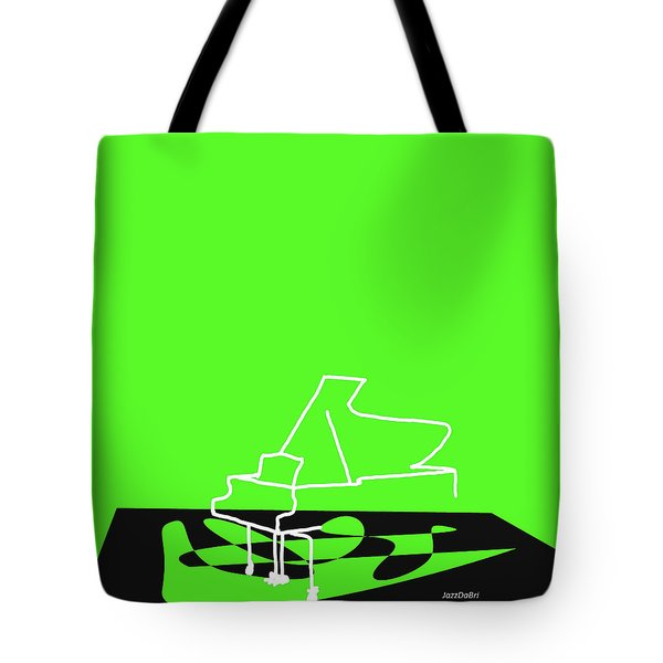 Piano In Green Tote Bag