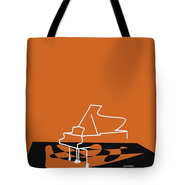 Piano In Orange Tote Bag