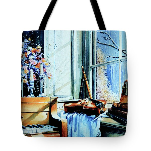Piano In The Sun Tote Bag by Hanne Lore Koehler