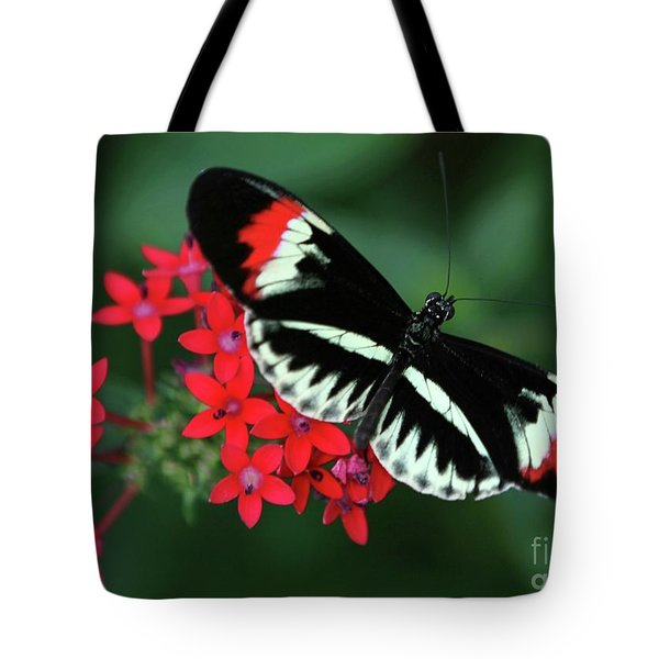 Piano Key Butterfly Tote Bag