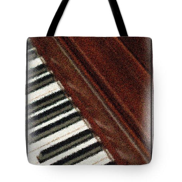Piano Keys Tote Bag by Carolyn Marshall