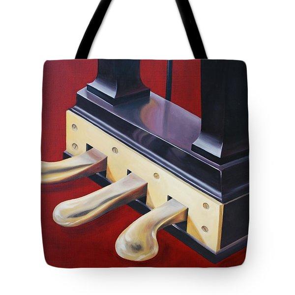 Piano Pedals Tote Bag