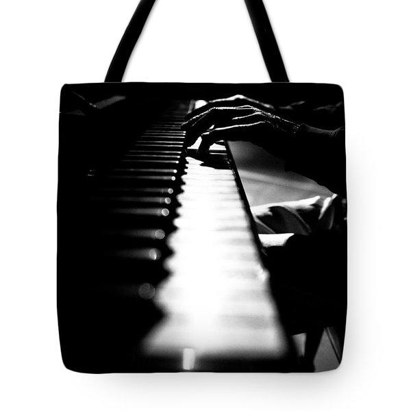 Piano Player Tote Bag