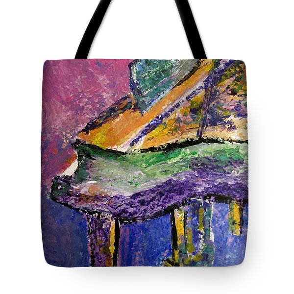 Piano Purple - Cropped Tote Bag