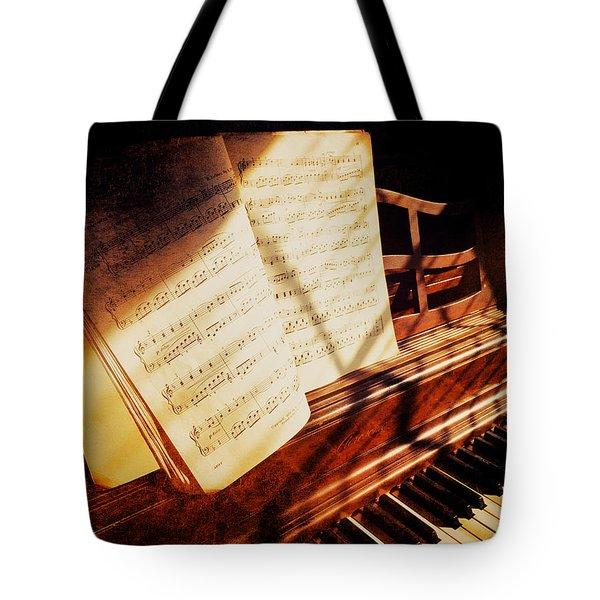 Piano Sheet Music Tote Bag